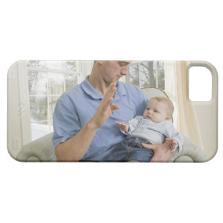 Man signing the word 'B' in American sign Barely There iPhone 5 Case