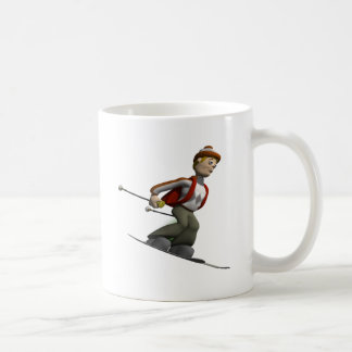 Man Skiing Coffee Mug