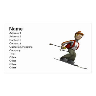 Man Skiing Pack Of Standard Business Cards