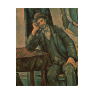 Man Smoking a Pipe Wood Canvas