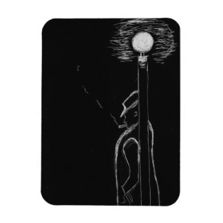 man smoking rectangular photo magnet