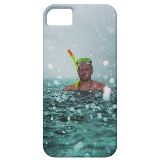 Man snorkelling in a stormy sea case for the iPhone 5