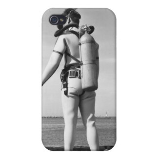 Man Standing on Pier iPhone 4 Cases