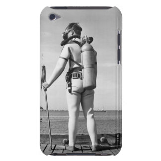 Man Standing on Pier iPod Touch Case