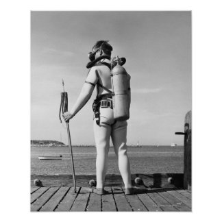 Man Standing on Pier Poster