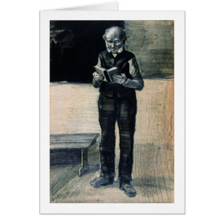 Man Standing Reading a Book, Vincent van Gogh Note Card