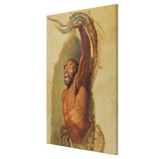 Man Struggling with a Boa Constrictor, Study for ' Canvas Print
