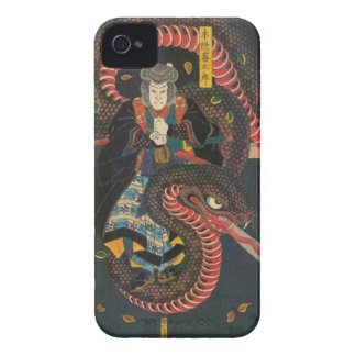 Man Summons Snake- Japanese Woodblock Print iPhone 4 Case-Mate Cases