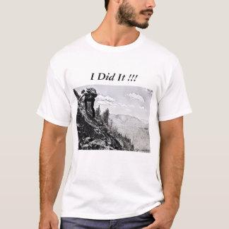 Man T-Shirt - Climbing, You did it! B&W etching