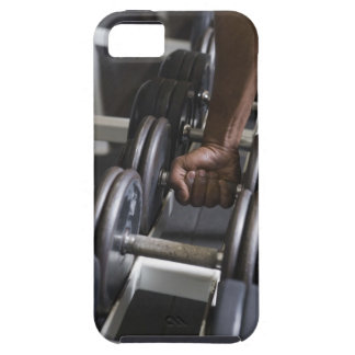 Man taking weight from rack iPhone 5 case