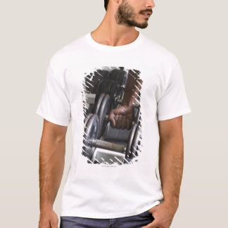 Man taking weight from rack T-Shirt