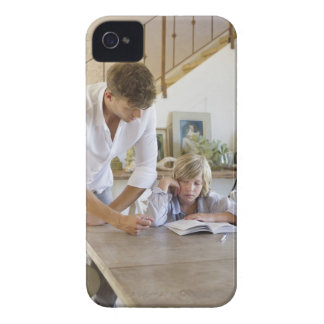 Man teaching his son at house iPhone 4 Case-Mate case