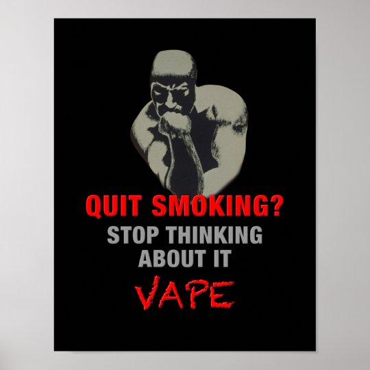 Man Thinking Vape Premium Poster Print