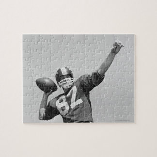 Man throwing football jigsaw puzzle