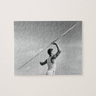 Man Throwing Javelin Jigsaw Puzzle