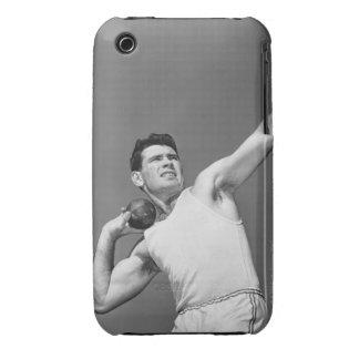 Man Throwing Shotput Case-Mate iPhone 3 Case