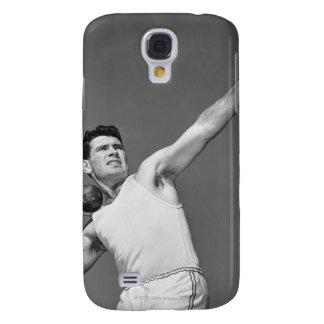 Man Throwing Shotput Galaxy S4 Case