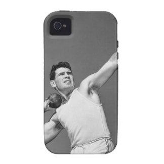 Man Throwing Shotput iPhone 4 Cover