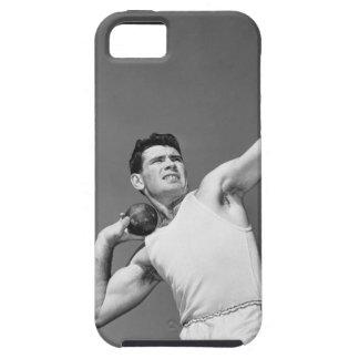 Man Throwing Shotput iPhone 5 Covers
