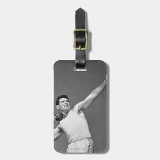 Man Throwing Shotput Luggage Tag