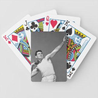 Man Throwing Shotput Bicycle Poker Cards