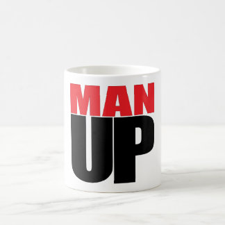 MAN UP BASIC WHITE MUG