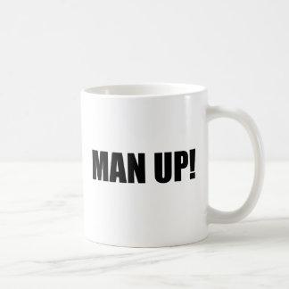 MAN UP BASIC WHITE MUG