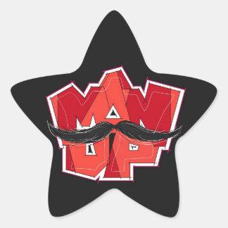 man up star sticker