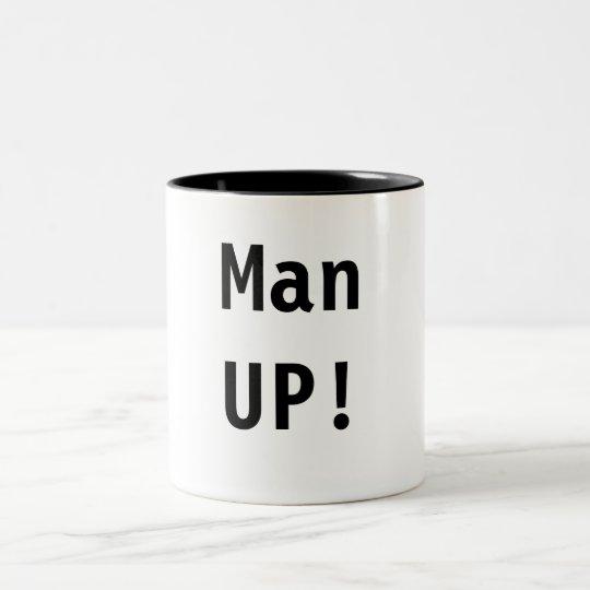 Man UP! Two-Tone Coffee Mug