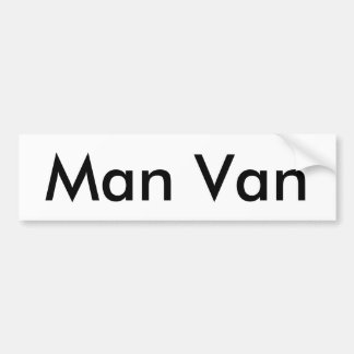Man Van Bumper Sticker