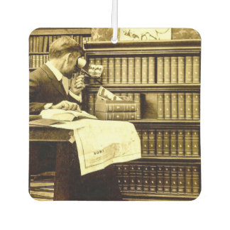 Man Viewing Stereoview Cards Vintage