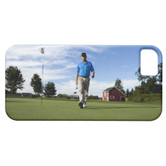 Man walking towards his golf ball. barely there iPhone 5 case