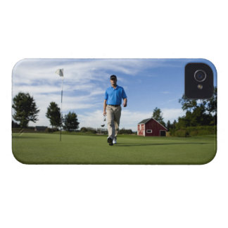 Man walking towards his golf ball. Case-Mate iPhone 4 case
