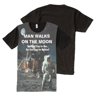 Man Walks on the Moon Astronaut All-Over Print T-Shirt