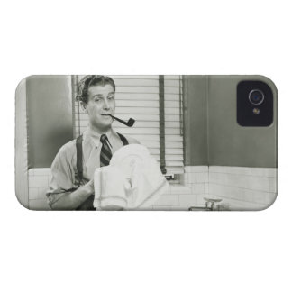 Man Washing Dishes iPhone 4 Case-Mate Cases
