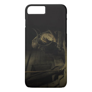 Man wearing a suit and a gas mask iPhone 7 plus case
