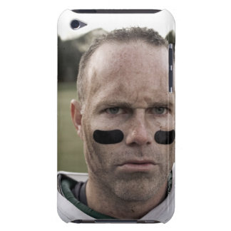 Man wearing American football kit, high section, Barely There iPod Covers
