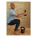 Man Weight Training Card