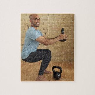 Man Weight Training Jigsaw Puzzle