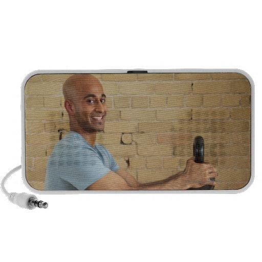 Man Weight Training Mini Speakers