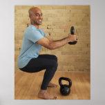 Man Weight Training Poster
