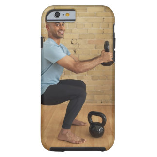 Man Weight Training Tough iPhone 6 Case