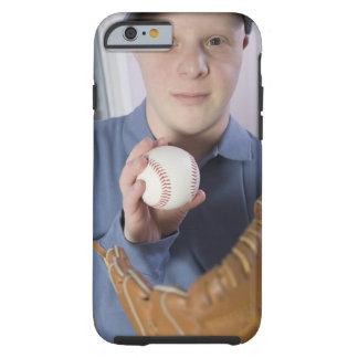 Man with a baseball glove and a baseball tough iPhone 6 case