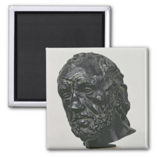 Man with a Broken Nose, 1865 Square Magnet