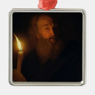 Man with a Candle Christmas Ornament