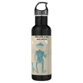 Man with a dog and balloon Liberty Bottle 710 Ml Water Bottle