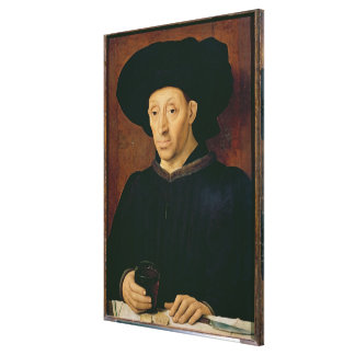 Man with a Glass of Wine Canvas Print