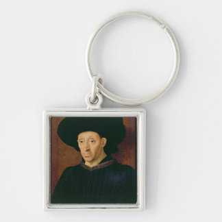 Man with a Glass of Wine Key Ring