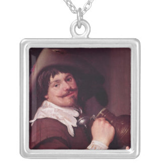 Man with a Jug Silver Plated Necklace