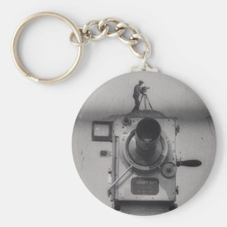 Man with a Movie Camera (1st Shot) Basic Round Button Key Ring